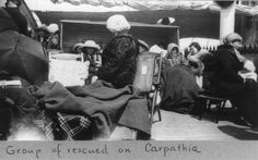 A group of survivors of the Titanic disaster aboard the Carpathia after being rescued, April 1912. The Titanic was considered unsinkable but foundered in frigid Atlantic waters off Newfoundland after striking an iceberg. About 700 passengers survived in lifeboats, but some 1,500 perished in the sinking. REUTERS/George Grantham Bain Collection/Library of Congress/Handout