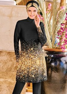 Adasea 4051 Full Cover Burkini Swimsuit is part of our stylish set of 2019 Spring - Summer collection Adasea 4051 Full Cover Burkini Swimsuit details, Islamic Swimwear, Muslim Swimwear, Modest Fashion, Hijab Fashion, Fashion Tips, Hijab Trends, Mode Simple, Hijab Style, Red Swimsuit