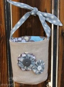 Cute Basket and good directions for how to make a custom basket, including how to find out how much fabric you'll need.