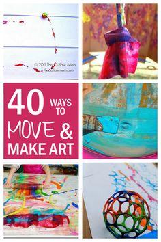 40 'Big Art' Fun Art Projects for Kids