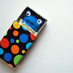 Tiny monster in a matchbox. Sooo making lots of these. Little man will love them :)