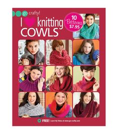 Knitting enthusiasts can use the I Love Knitting Cowls book to combine their love for knitting and style and create delightful wearables. This 16-page soft cover cowl knit book features 10 exciting pr