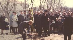 Breaking ground for the new church, 1971
