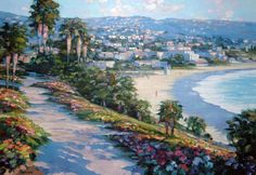 "I would love to have this! Original Painting ""Laguna Beach California"" by Howard Behrens. Because I love Laguna Beach."