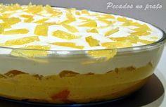 Pretzel Desserts, Trifle Desserts, No Bake Desserts, Portuguese Desserts, Portuguese Recipes, Sweet Recipes, Cake Recipes, Dessert Recipes, Sweet Cooking