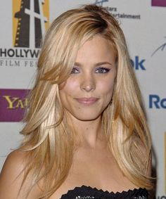 I want my hair to look like this. i love it! and i Love Rachel McAdams as a blond.