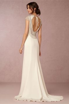 sleek & embellished wedding dress | Dylan Gown by Rosa Clara for BHLDN