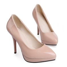 Women Work Shoes Pointed Thin High Heel Night Club apricot