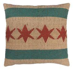 Chicago Flag 4 Star Pillow
