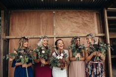 Bohemian Tipi Wedding Weekend at Fforest, Wales with Watters Wtoo Lenora Gown Different Bridesmaid Dresses, Fall Bridesmaid Dresses, Different Dresses, Fall Dresses, Bridesmaids, Wedding Dresses, Tipi Wedding, Fall Wedding Bouquets, Fall Wedding Flowers