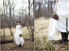 bride in boots, gorgeous shoot!  photos by Simply Jessie   CHECK OUT MORE IDEAS AT WEDDINGPINS.NET   #weddings #weddingdress #inspirational
