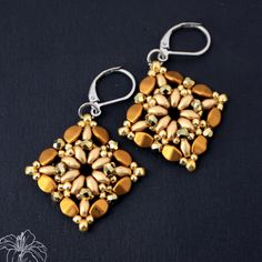 Pinch beads and super duo earrings                                                                                                                                                                                 More