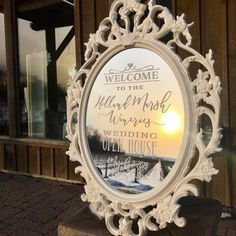 """Write It Out Loud on Instagram: """"All ready for the Holland Marsh Wineries Wedding Open House tomorrow from 11-4. Beautiful sunset tonight!"""" Wedding Show, Home Wedding, Wedding Mirror, Wineries, Out Loud, Beautiful Sunset, Open House, Rsvp, Holland"""