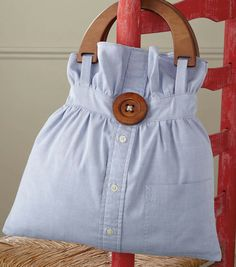 Recycle shirt into cute bag