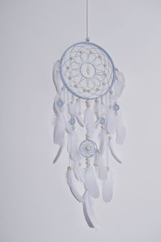 Blue dream catcher, Large dreamcatcher, dreamcatchers, boho stale, dream catchers, wedding decor #Home #Décor #Wall_Décor #Wall_Hangings #dream_catcher #etsy #dreamcatcher #accessories #Weddind