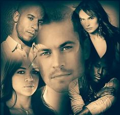 Vin Diesel Michelle Rodriguez Paul Walker Jordana Brewster & Tyrese Gibson aka Dominic Toretto Letty Ortiz Brian O'Connor Mia Toretto & Roman Pierce