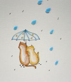 Original Art - Loving The Rain by melbangel, via Flickr