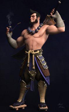 Warrior by David Diaz on ArtStation. 3d Model Character, Character Modeling, Character Creation, Game Character, Character Concept, Zbrush, 3d Art, Modelos 3d, Character Design Inspiration