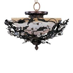 Maxim Lighting 2859 3 Light Elegante Semi Flush Ceiling Light