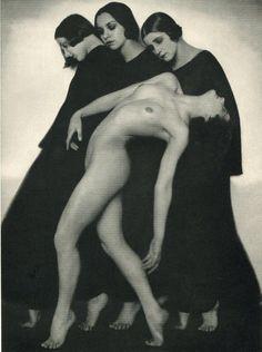 Classic 1925 photo 'Motion Study' by symbolist Rudolf Koppitz w/ dancer Tatyana Gosovsky & others from Vienna ballet.