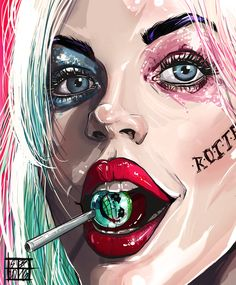 Find images and videos about joker, harley quinn and suicide squad on We Heart It - the app to get lost in what you love. Der Joker, Joker Und Harley Quinn, Harley Quinn Drawing, Joker Art, Harley Quinn Tattoo, Harley Quenn, Special Pictures, Margot Robbie, Poison Ivy