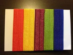 Bright & Bold  Hair Tie Package by stanzandco on Etsy, $6.00