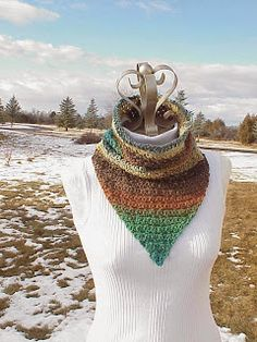 Need to try this crochet cowl bandana. Not sure if it's just me being tired but there seems to be some issues with the pattern. No foundation chain? Start off by ch 2 then turn?
