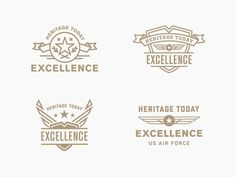 """Air Force """"Excellence"""" Badges"""