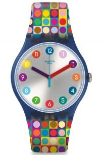 SWATCH Rounds and Squares Multicolor Rubber Strap SUON122 - E-oro.gr SWATCH ΡΟΛΟΓΙΑ