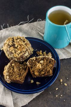 Gingerbread Apple Muffins with Walnut Oat Streusel Topping