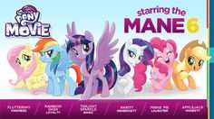 Mane 6 My Little Pony The Movie 2017 Film
