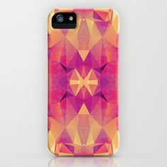 RETRO PINK GEOMETRY iPhone & iPod Case by Nika  - $35.00 #iphone #case #geometric #pattern #triangles #yellow #pink #abstract #retro #vintage #illustration #nika martinez #society6 #iphone #case #cover #iphone6