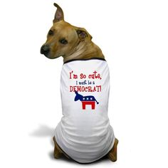 CafePress - So Cute Democrat Dog T-Shirt - Dog T-Shirt, Pet Clothing, Funny Dog Costume -- Read more reviews of the product by visiting the link on the image.