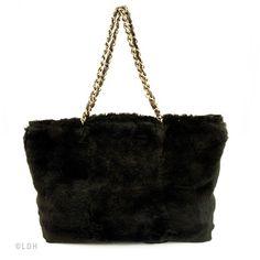 Chanel Lapin Fur Shoulder Bag