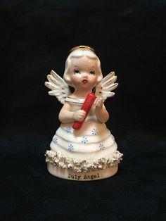 Vintage July Angel Figurine