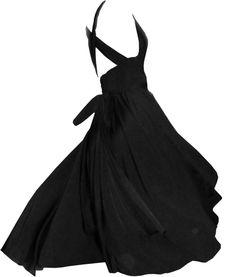 The Sophia | Ultra-full hi-low infinity tango dress | Back pivot view tied in cross-back halter style