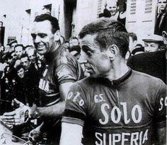Rik Van Steenbergen en Rik Van Looy On a single team. 1965.