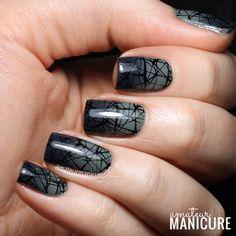 Amateur Manicure : A Nail Art Blog: Misty Green-Grey Halloween Nails