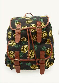 Pineapple backpack! Can youuu say BEACHpack!! Sooo freakin' cute!!!