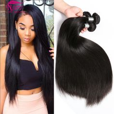 Mink Brazilian Virgin Hair Straight 4 Bundle Deals Human Hair 8A Unprocessed Brazilian Straight Weave Hair Tissage Bresilienne