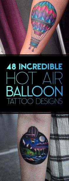 48 Incredible Hot Air Balloon Tattoo Designs | TattooBlend