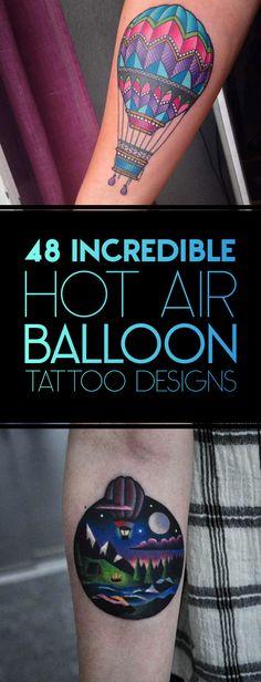48 Incredible Hot Air Balloon Tattoo Designs | TattooBlend