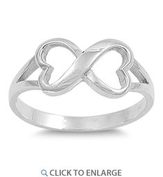 Sterling Silver Double Heart #Ring