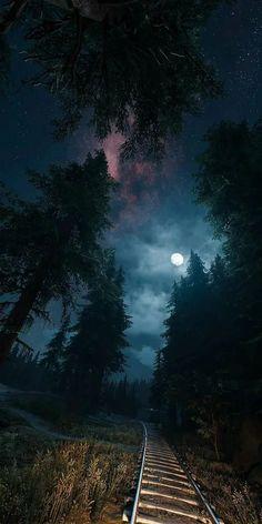 Night sky without much light polution