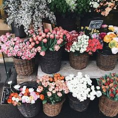 buy flowers at the farmers market