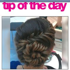 Fishtail updo on behindthechair.com