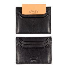 leather wallets for men | Tod's Men's Black Leather Wallet / Credit Card Holder (T119)