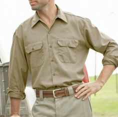 Dickies® Long-Sleeve Twill Workwear Shirt – Big & Tall  A gentleman is responsible for his actions, and is a hard worker and provider for his family.