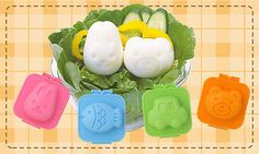 Kokubo Egg Shapers Car Fish Bear Rabbit Egg Mold Cute Bento Party Lunch Easy Use