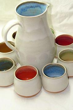 Ceramic Pitcher, Ceramic Pots, Ceramic Pottery, Thrown Pottery, Pottery Bowls, Pottery Ideas, Pottery Painting Designs, Pottery Techniques, Ceramic Studio